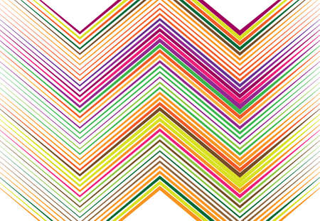 Corrugated, creased, wavy, zig-zag, criss-cross lines abstract geometric colorful, multi-color pattern, background, texture or backdrop