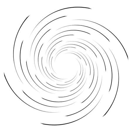 Spiral, twist radial swirl, twirl circular vector illustration. Revolve, whirlpool effect Vecteurs