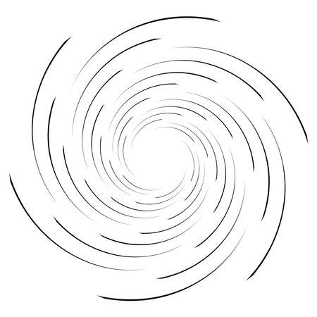 Spiral, twist radial swirl, twirl circular vector illustration. Revolve, whirlpool effect Ilustração Vetorial