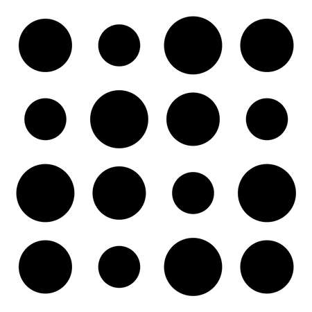 4x4 circles dots variation design. Dotted, speckles, freckles