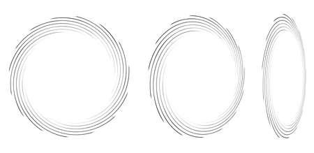 Spirals, swirls, twirls in perspective. Spiral vector illustration