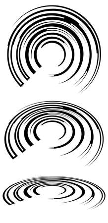 Spirals, swirls, twirls in perspective. Spiral vector illustration