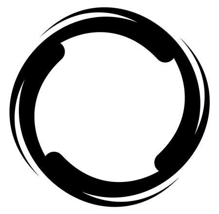 Abstract black and white circular, circle mandala-motif clip-art, design element. Radial, radiating, concentric mandala, motif design element.Geometric circular decoration, ornament vector illustration