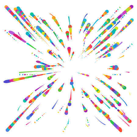 Radial, radiating lines abstract burst, explosion, fireworks FX.Concentric, circular lines pattern.Beams, rays spreading from center. Blast lines.Abstract twinkle, gleam, shimmer FX.Vector illustration