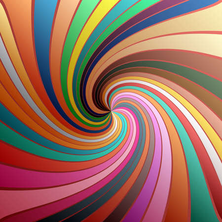Twist, spiral, swirl, twirl element. Colored Radial rotating stripes Vektoros illusztráció