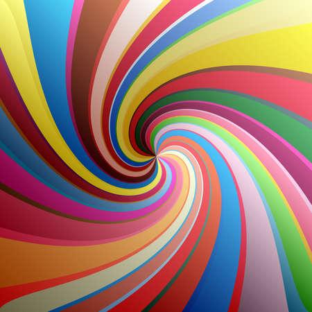 Twist, spiral, swirl, twirl element. Colored Radial rotating stripes