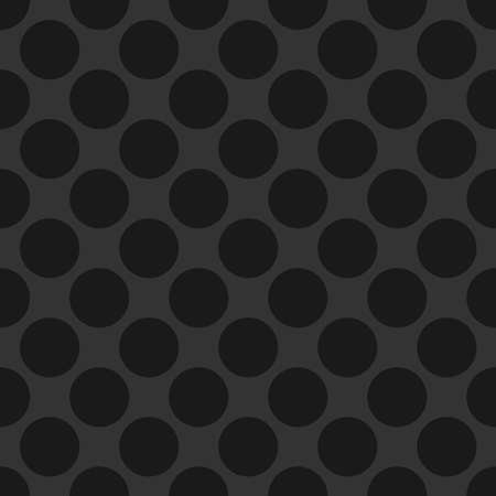 Circles tileable, repeatable black and white monochrome dots, dotted, speckles circular pattern, background. Vector