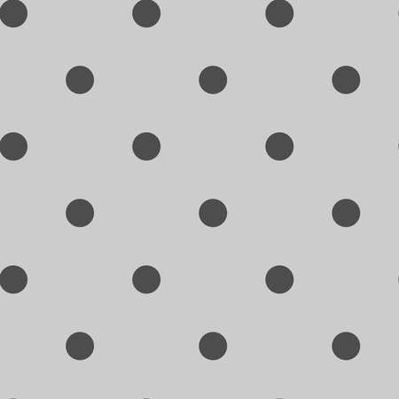 Circles tileable, repeatable black and white monochrome dots, dotted, speckles circular pattern, background. Vector Vektorgrafik