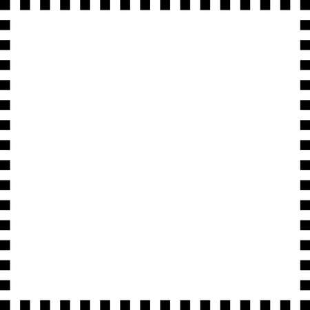 Checkered / Checkered square frame with blank, empty space, copyspace. Squares frame, border
