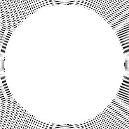 Circle halftone, screentone vector illustrations. Dots, dotted, speckles vector illustration