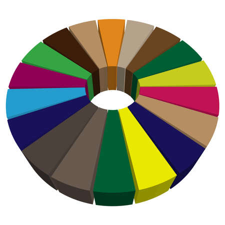 Pie chart, pie graph, diagram vector illustration. A clipart for infographics, visualization, infographic theme