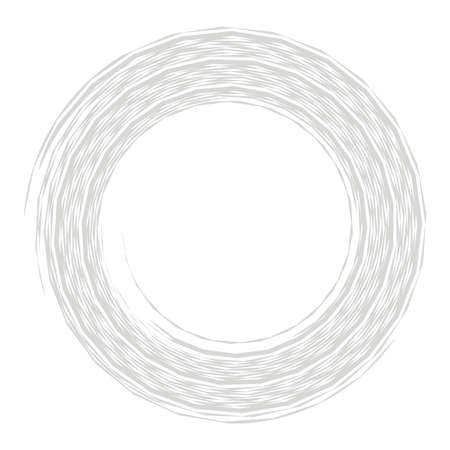 Cyber-cyberpunk, sci-fi geometric circles, rings. Hi-tech HUD elements. Concentric, radial revolving circles for techno, technology themes. Circular, round design elements Vector Illustration