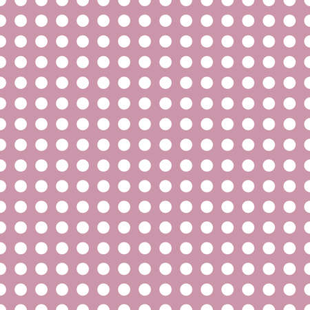 White circles, dots, speckles over color background. Seamless repeatable halftone pattern. Simple stipple, stippling, pointillist-pointillism wrapping paper illustration. Vector