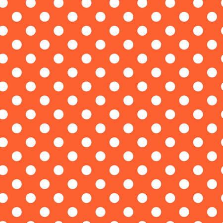 White circles, dots, speckles over color background. Seamless repeatable halftone pattern. Simple stipple, stippling, pointillist-pointillism wrapping paper illustration. Vector Vector Illustratie