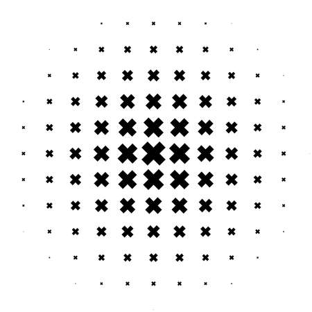 Circle made of plus, cross marks, signs