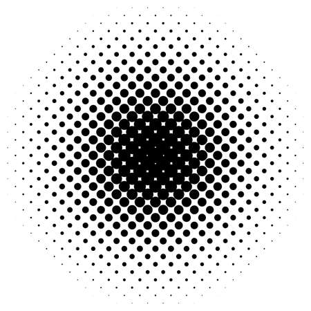 Halftone vector illustration. Geometric half tone design element