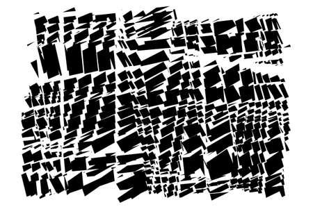 Abstract vector art - Random geometry shapes vector illustration. Generative art. Angular and edgy, angled geometrical illustration. Random abstract composition. Jumble, disarray of irregular elements