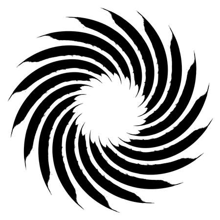 Spiral Helix, volute and vortex shape. Swirl, twirl, twist rotation vector illustration