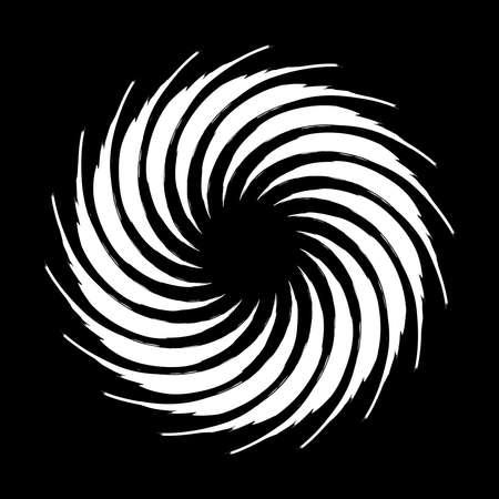 Spiral Helix, volute and vortex shape. Swirl, twirl, twist rotation vector illustration Vector Illustration