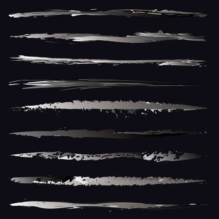 Abstract brushstroke, grungy, grunge lines. Rough, harsh textured stripe