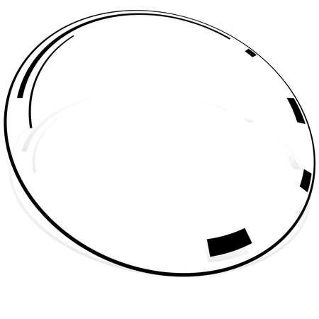 Sci-fi concentric, geometric ring, circle UI, GUI design element Vector illustration