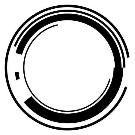 Sci-fi concentric, geometric ring, circle UI, GUI design element Vector illustration Ilustración de vector