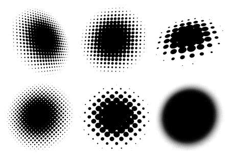 Halftone vector pattern, texture. Circles, dots, screentone illustration. Freckle, stipple-stippling, speckles illustration. Pointillist vector art