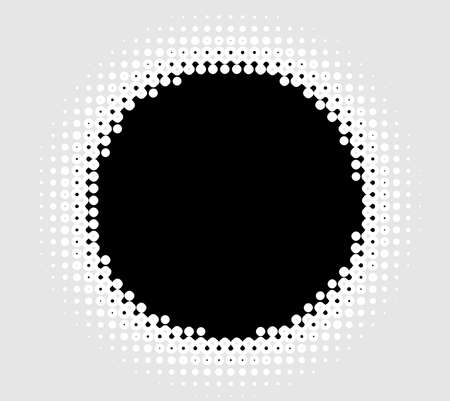 Halftone (half-tone) element. Dots, circles, speckles and freckles vector illustration. Stipple-stippling design