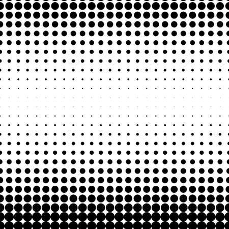 Dots abstract circles background, circles pattern. Halftone specks, stipple and stippling vector illustration. Screentone polka-dots, speckles pointillism, pointillist horizontal design Vektorgrafik