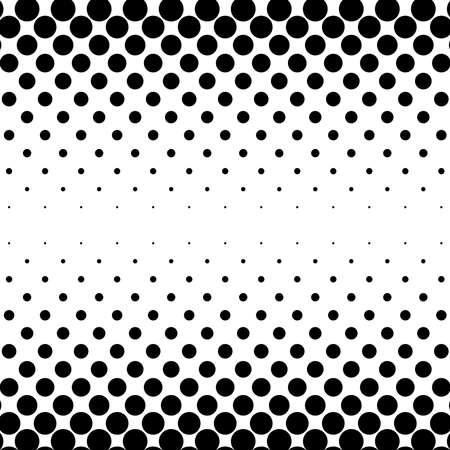 Dots abstract circles background, circles pattern. Halftone specks, stipple and stippling vector illustration. Screentone polka-dots, speckles pointillism, pointillist horizontal design Vettoriali