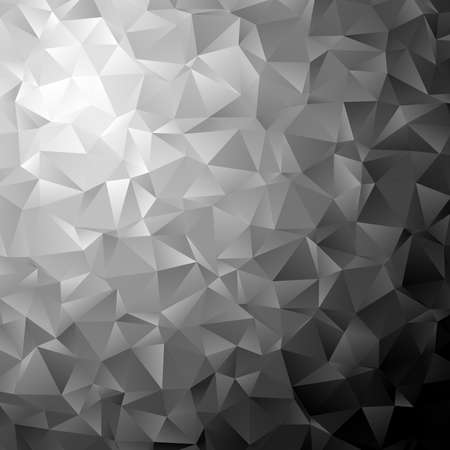 Low poly triangular, triangles vector background. Shatter, crumple effect. Chaotic glass pane Ilustração Vetorial