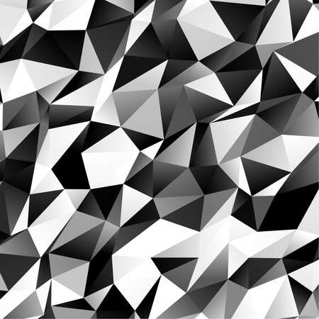 Low poly triangular, triangles vector background. Shatter, crumple effect. Chaotic glass pane