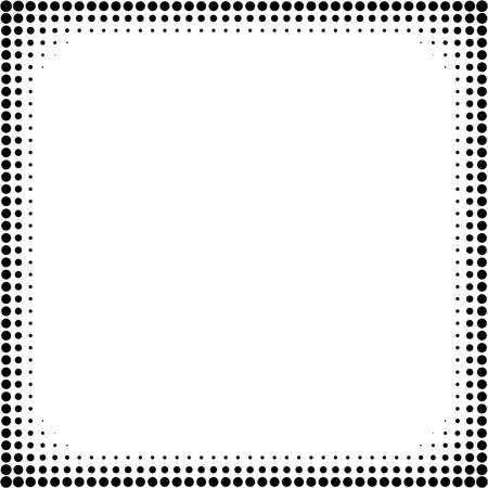 Halftone pattern, halftone texture. Half-tone background vector illustration. Screentone border, frame