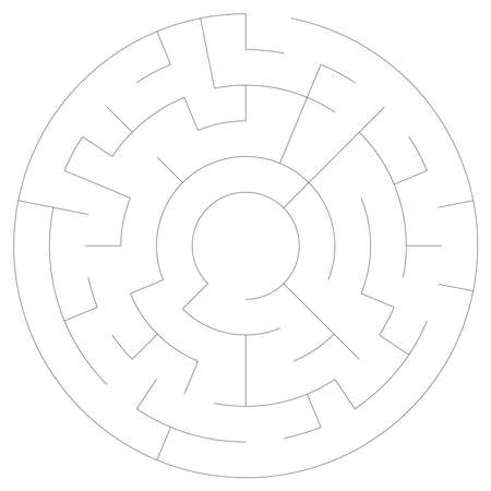 Solvable circle, circular Maze, Labyrinth. Puzzle game. (The Stroke width can be adjusted.)
