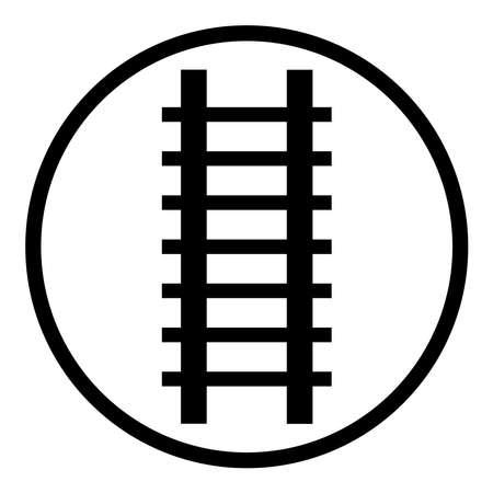 Ladder icon, ladder symbol, logo. Ladder vector illustration / Railway icon, rail symbol, logo. Railroad, rail-track vector illustration