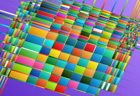 Tessallation, mosaic abstract colorful, multicolor and geometric background. Random rectangle, square tiles angular pattern and texture