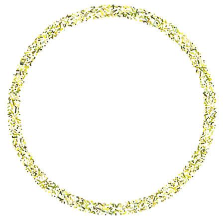 Colorful random squares in circle formation abstract geometric element. Circle, circular mosaic Vektoros illusztráció