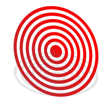 Bullseye, target mark abstract vector design element - Stock vector illustration, Clip art graphics