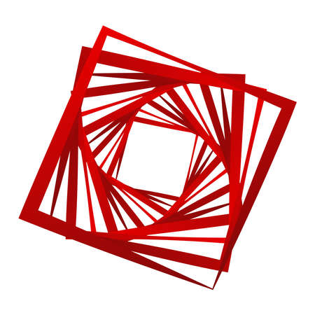 Abstract edgy, shattered design element. Angular, geometric abstract shape. Random, chaotic fragments illustration