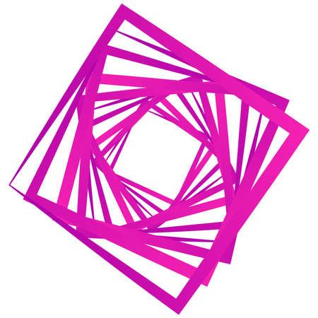 Abstract edgy, shattered design element. Angular, geometric abstract shape. Random, chaotic fragments illustration Ilustração Vetorial