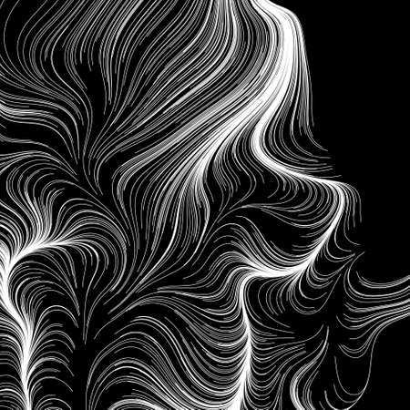 Abstract render of random wavy, curvy, writhe lines design element (Series) - Stock vector illustration, Clip art, graphics