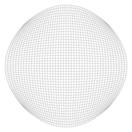 Grid, mesh with deform, distort effect. Abstract vector element - Stock vector illustration, Graphics clip art Vector Illustratie
