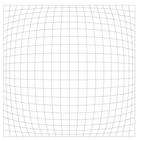Grid, mesh with deform, distort effect. Abstract vector element - Stock vector illustration, Graphics clip art