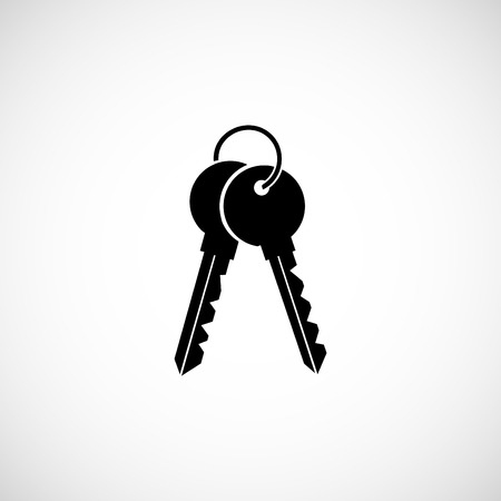 Keys Icon, flat design best icon Illustration