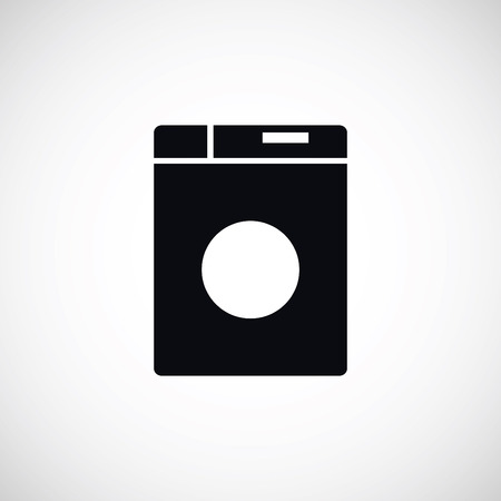 fully automatic: washing machine icon, flat design best vector icon