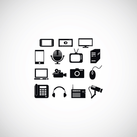 mobile devices: series icon set and mobile devices., flat design best vector icon