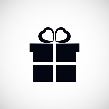 giftware: gift icon, flat design best vector icon