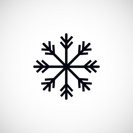 lightweight ornaments: snowflake icon, flat design best vector icon Illustration