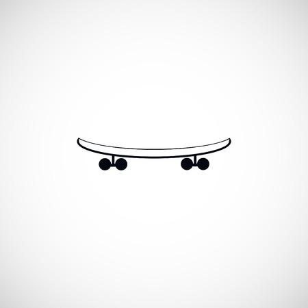 skateboard vector icon, flat design best vector icon