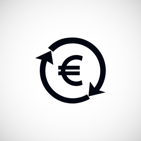 refresh rate: money convert icon, flat design best vector icon